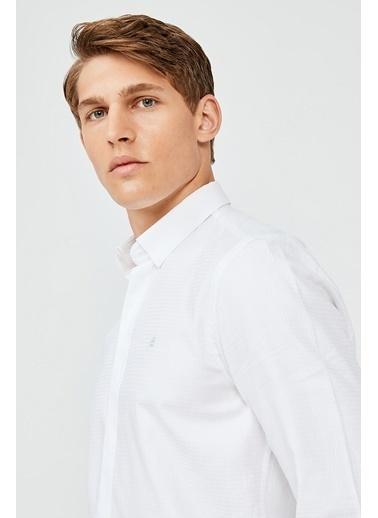 Avva Erkek  Armürlü Gömlek A02Y2171 Beyaz